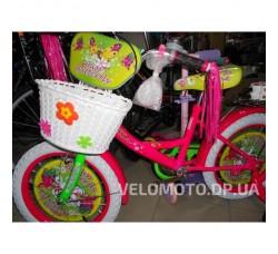 Велосипед детский Profi miss Butterfly 12 P1251 F-W салатово-малиновая