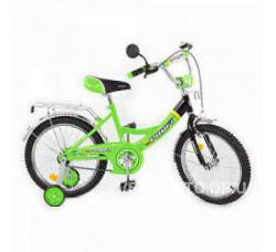 Велосипед детский Profi 16  P1645 черно-салатовый