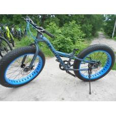 "Велосипед Велосипед FAT-BIKE 26"" MIFA серо-синий 2018"