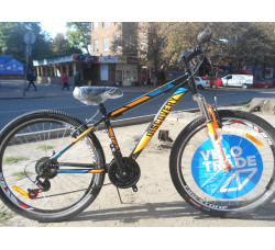 Велосипед Discovery 26 Trek AM 2019 (черно-оранжево-синий)