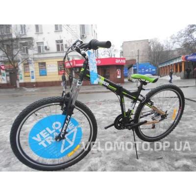 """Велосипед Formula Hummer AM 14G Vbr 26"""" 2016 черно-зеленый"""