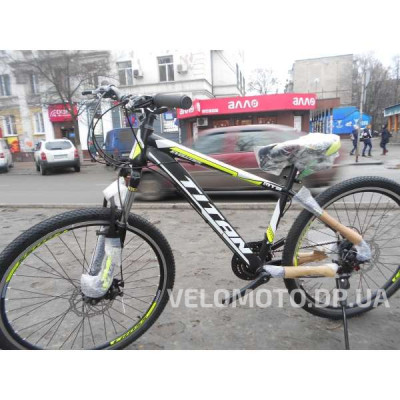 Велосипед Titan Evolution 26″ (disc brakes) NEW 2018 (чёрно-зелёный)