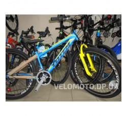 Велосипед TOTEM 26 CT MTB SHARK DISK (сине-желтый матовый)