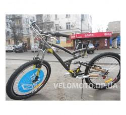 Велосипед Discovery Canyon AM2 26 2018 (черно-серо-желтый)