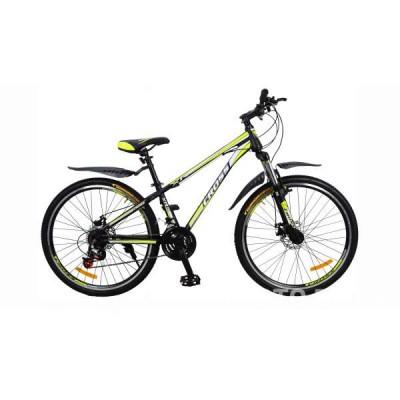 Велосипед CrossBike Racer 26″ (чёрно-салатовый)