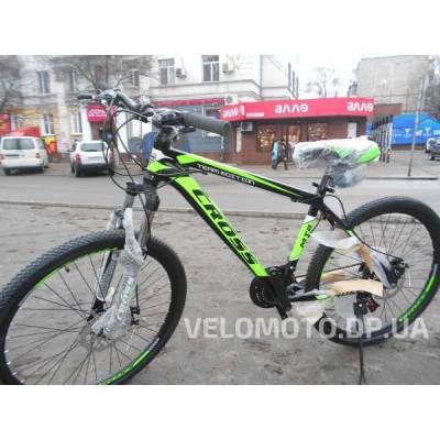 Велосипед CrossBike Hunter 26″ (чёрно-салатовый)