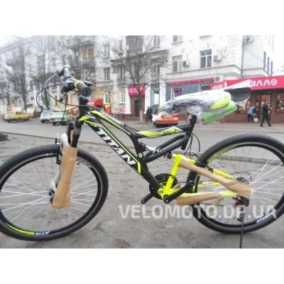 Велосипед TITAN Ghost 26″ NEW 2018 (чёрно-желтый)