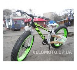 Велосипед CrossBike Tank 26″ (чёрно-салатовый)
