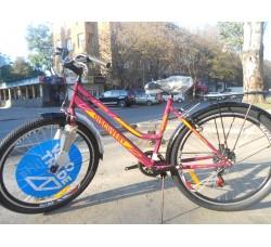 Велосипед Discovery Prestige WOMEN 26 2019 (бордово-оранжевый с розовым)