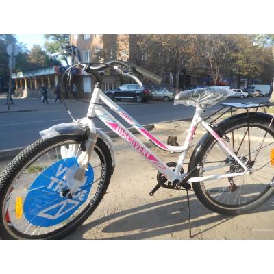 Велосипед Discovery Prestige WOMEN 26 2019 (бело-розовый)