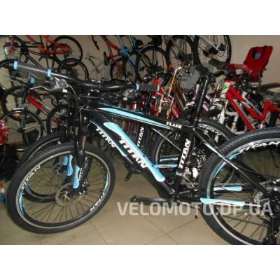 Велосипед Titan Flash 24″ алюминий (черно-синий матовый) НОВАЯ МОДЕЛЬ!