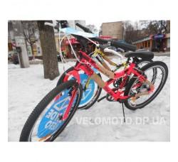 Велосипед Discoveri Flint 24 2017 (6 скоростей) красно-черный