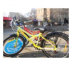 Велосипед Discovery Flint MC 24 2018 (с багажником) фиолетово-белый