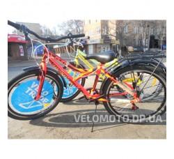 Велосипед Discovery Flint MC 24 2018 (с багажником) бело-салатовый