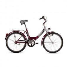 """Велосипед складной Ardis Fold CK 24"""" (бордовый) с освещением"""