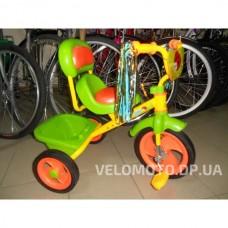 Детский трёхколёсный  велосипед M 1659 оранжево-салатовый