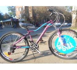 Велосипед Discovery KELLY 26 2019 (фиолетово-розовый с голубым)