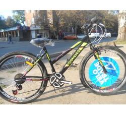 Велосипед Discovery Passion 26 2019 (чёрно-зелёный с малиновым)