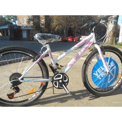 Велосипед Discovery Passion 26 2019 (бело-розовый с голубым)