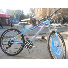 Велосипед Discovery KELLY 26 2019 (голубой с розовым)