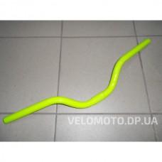 Руль St 25.4мм L560мм rize: 80mm curve: 20° салатовый