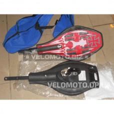 Скейт рипстик MS 0017 (красно-черный)
