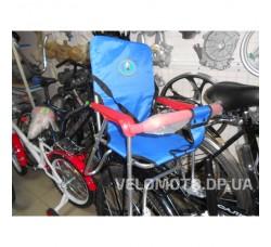 Сиденье для ребенка на багажник (складное, синее)