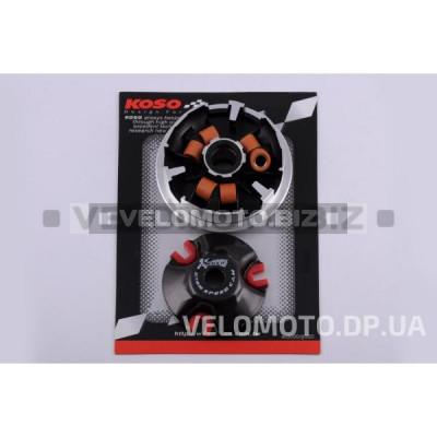 Вариатор передний (тюнинг) Yamaha BWS 100 (медно-граф. втулка, ролики латунь) KOSO