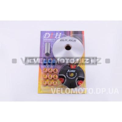 Вариатор передний (тюнинг) Yamaha JOG 50 (d-13mm, рол. латунь 9шт, палец, пр. сцепления) DLH