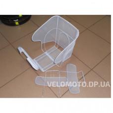 Сиденье для детей сетка белое (на багажник)