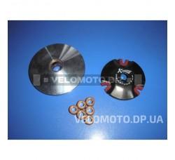 Вариатор передний (тюнинг) Yamaha JOG 50 (d-13mm, медно-граф. втулка, ролики 8г латунь) KOSO