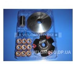 Вариатор передний (тюнинг) Honda DIO AF34 (ролики латунь 9шт, палец, пружины сцепления) DLH