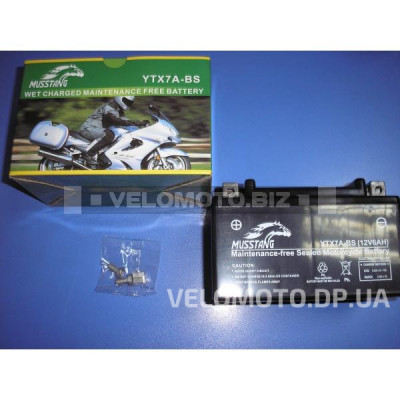Аккумулятор Musstang YTX 7A-BS(GEL) гелиевый