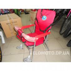 Сиденье для ребенка на багажник (складное, красное)