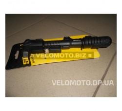 Велонасос Spelli SPM-141P манометр, пластиковая ручка (AV/FV)