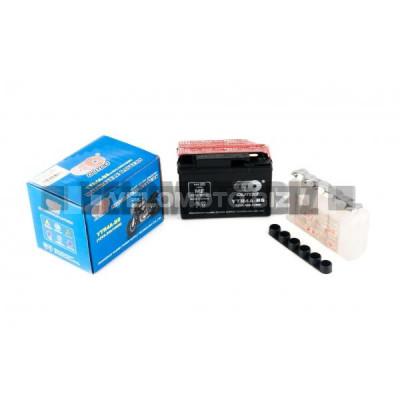 АКБ 12V 2,3А кислотный, Honda (114x48x85, черный, mod:YTR 4A-BS) OUTDO