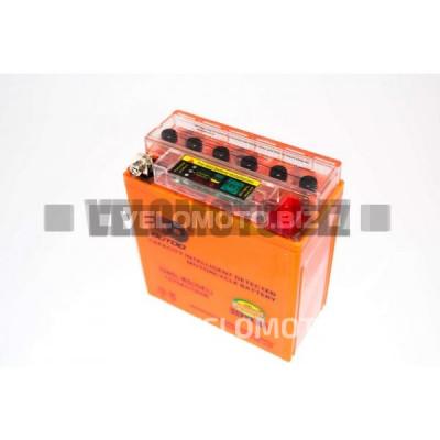 АКБ 12V 5А гелевый (высокий) (120x60x130, с индикатором заряда, mod:12N5-3B) (#RBR) OUTDO