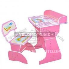 Парта HB 2029 A-02-7, розовый