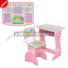Парта HB 2029-02-7,  розовая