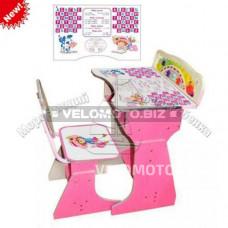 Парта HB 2075-02-7, розовая