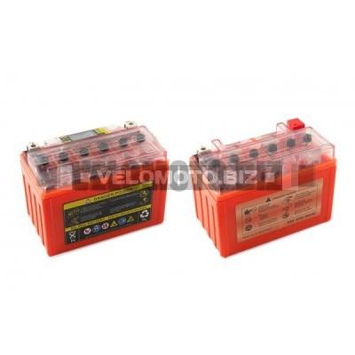 Акб   12V 9А   гелевый   OUTDO    (151x86x106, оранжевый, с индикатором заряда, вольтметром)